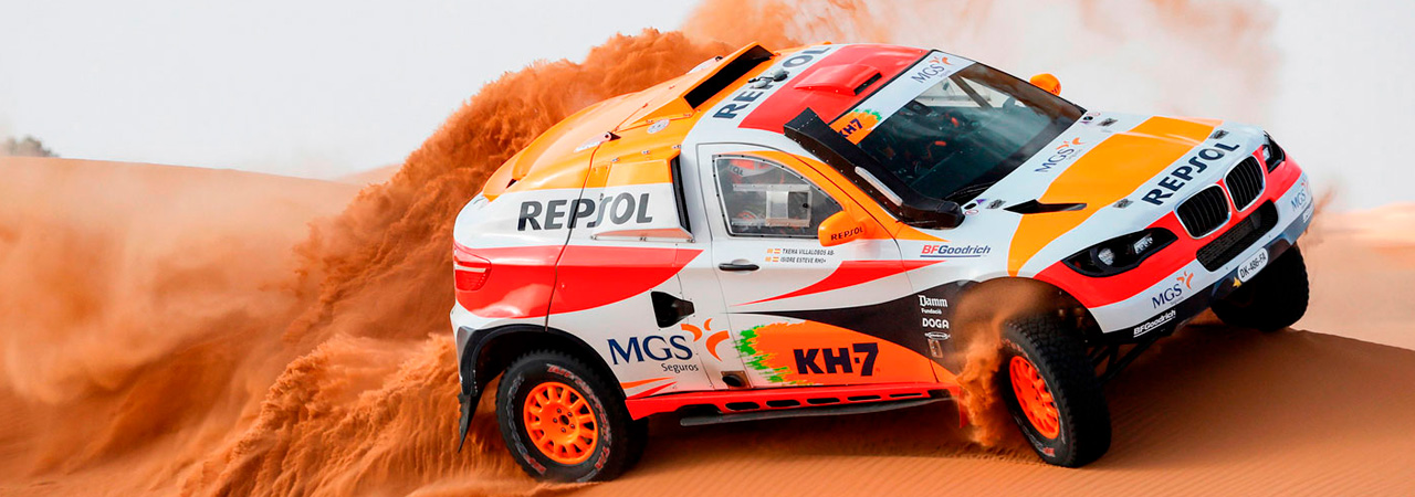 Coche del Repsol Rally Team