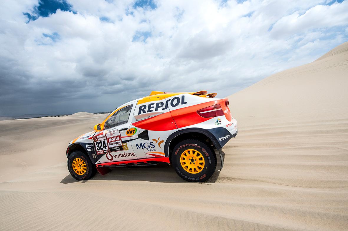 Isidre Esteve en el Dakar 2019 Repsol Rally Team