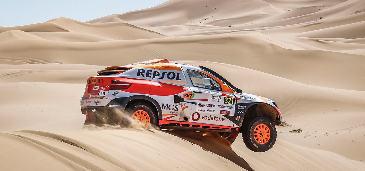 Isidre Esteve stays at the top in the Rallye du Maroc