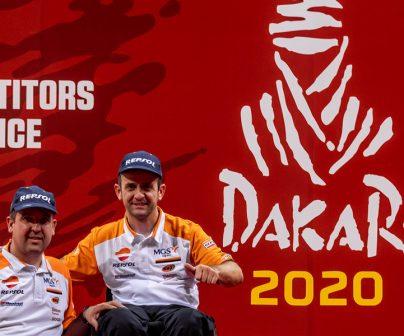 Isidre Esteve y Txema Villalobos en el primer Dakar asiático