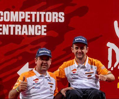 Isidre Esteve y Txema Villalobos en el primer Dakar asiático en Arabia Saudí