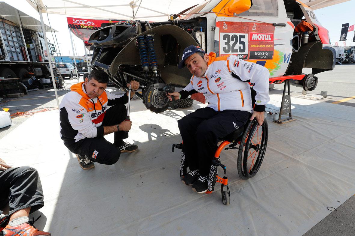 Dia de descanso en el Dakar con el Repsol Rally team
