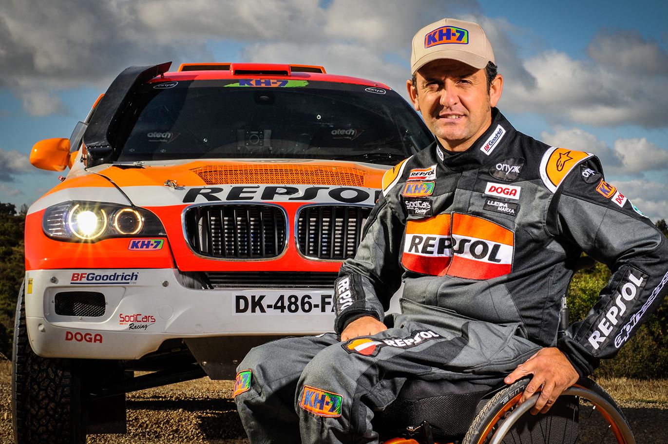 Isidre Esteve con el Sodicar Bv6 del Repsol Rally Team