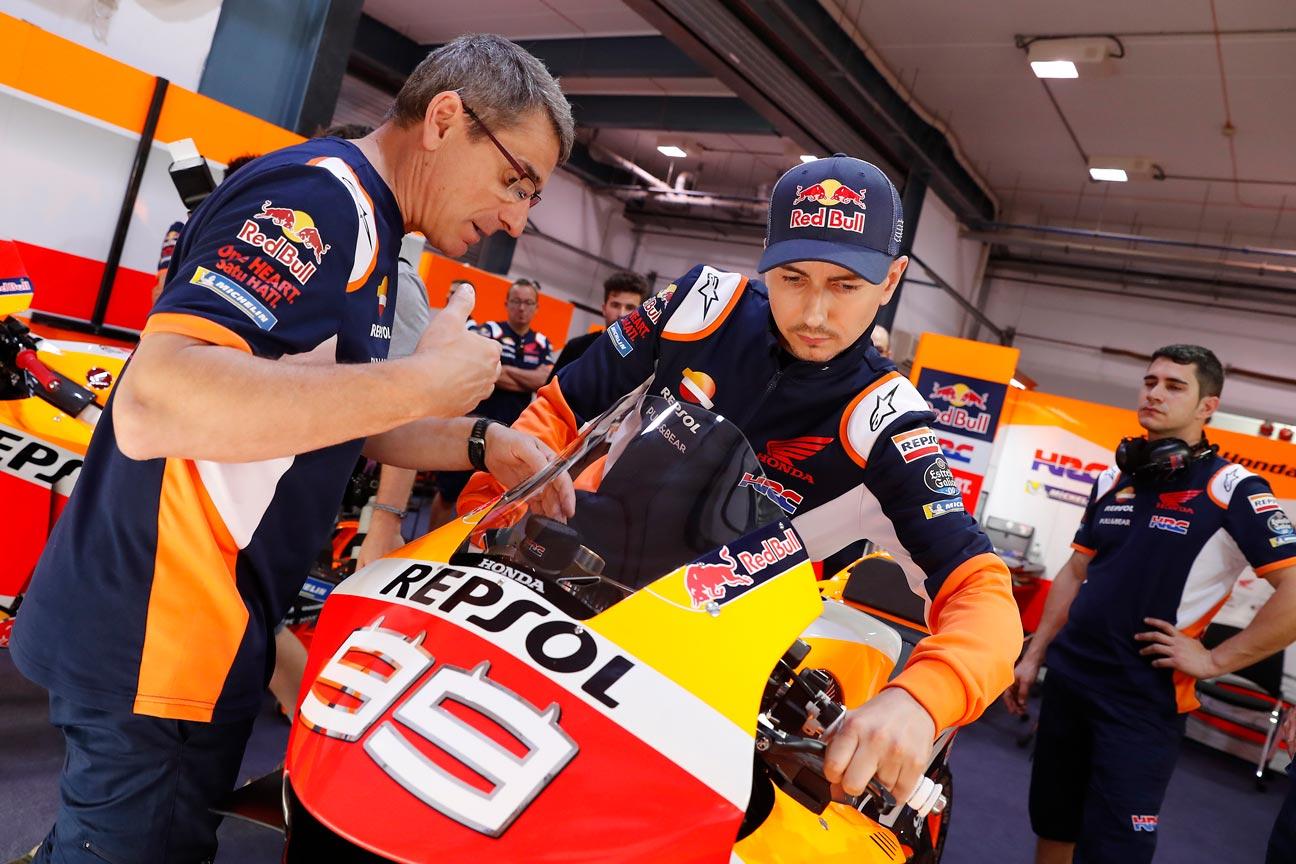 Jorge Lorenzo con la Honda