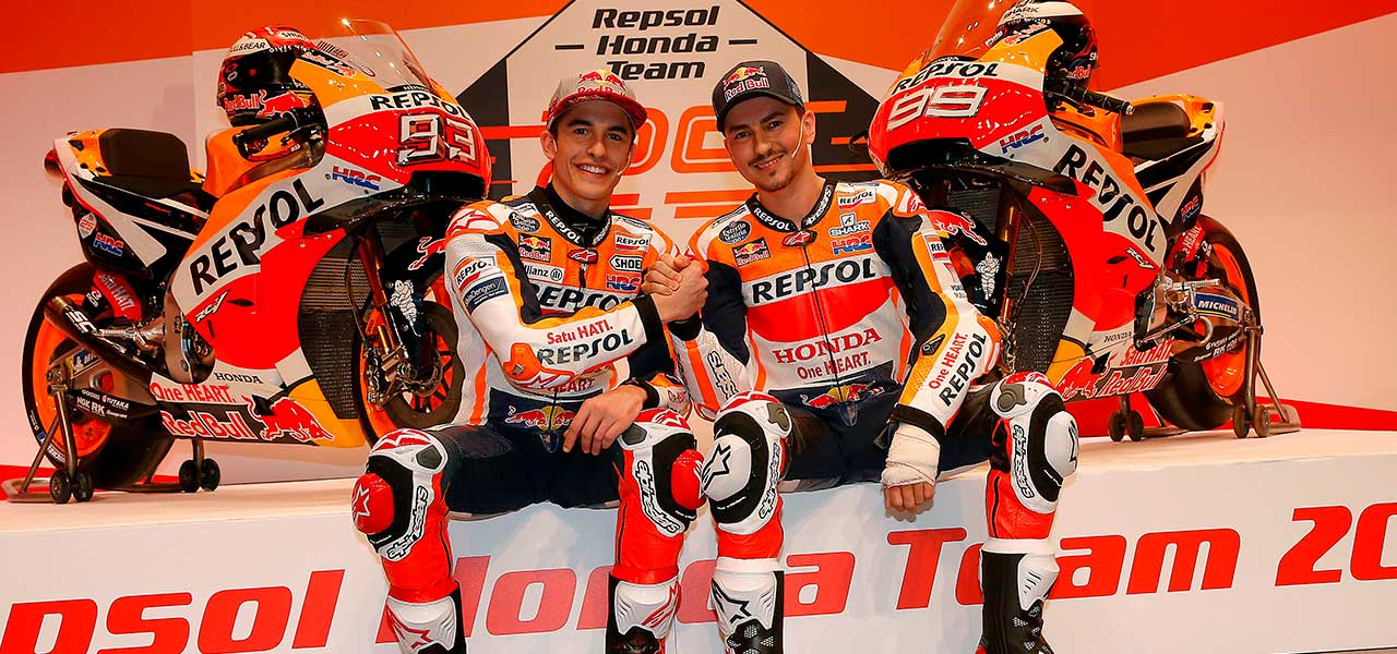 Márquez and Lorenzo inaugurate 25th anniversary of Repsol Honda Team