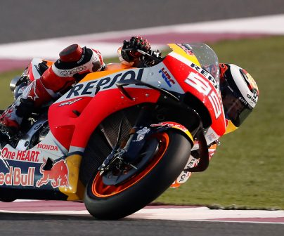 Jorge Lorenzo rodando en la Honda