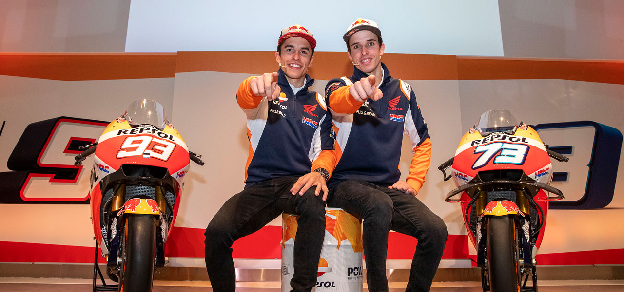Marc and Álex Márquez visit Campus Repsol before season start