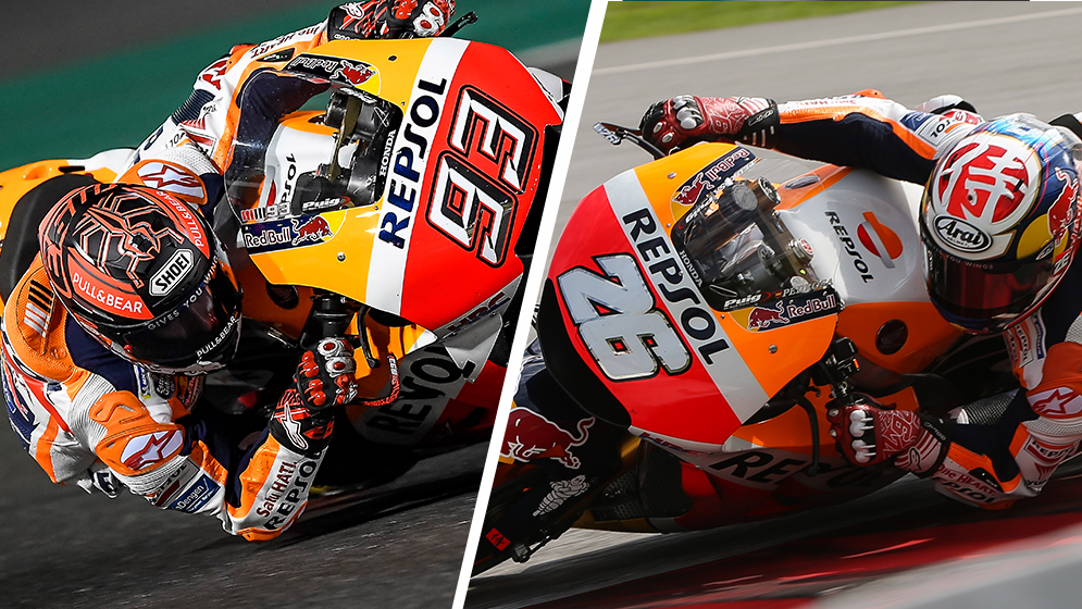 Marc Márquez and Dani Pedrosa's pre-season, in numbers