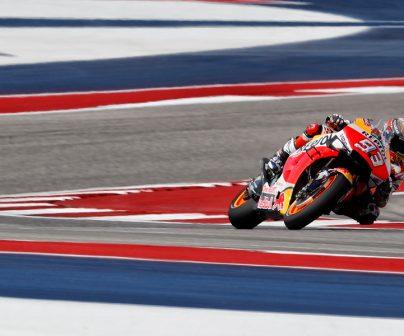 Marc Márquez en sector de curvas enlazadas en COTA