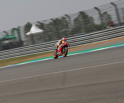 Marc Márquez rodando en el GP de Tailandia