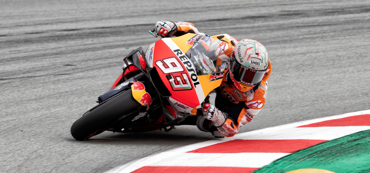 Marc Márquez and Jorge Lorenzo work with raceday in mind