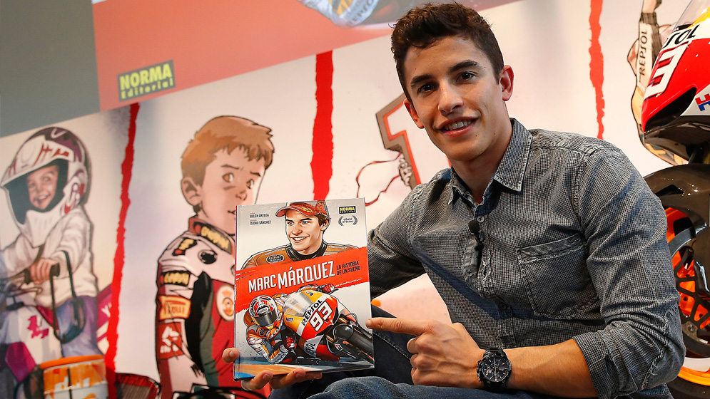 Marc Marquez and his official comic book about his life
