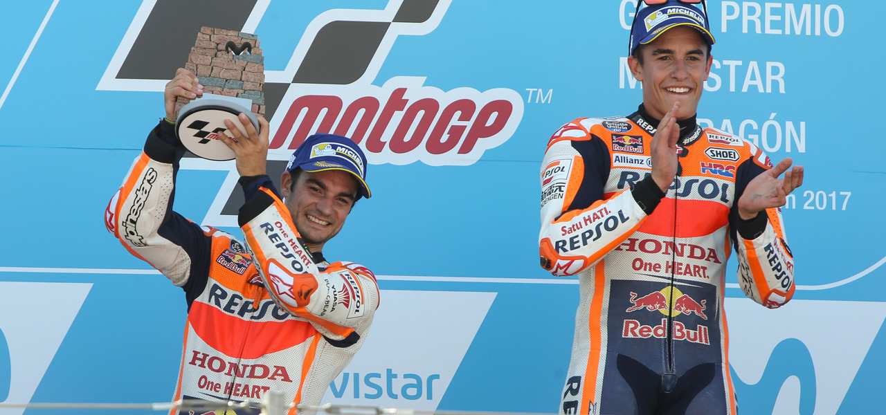 Marc Márquez and Dani Pedrosa ready to race in front of home fans