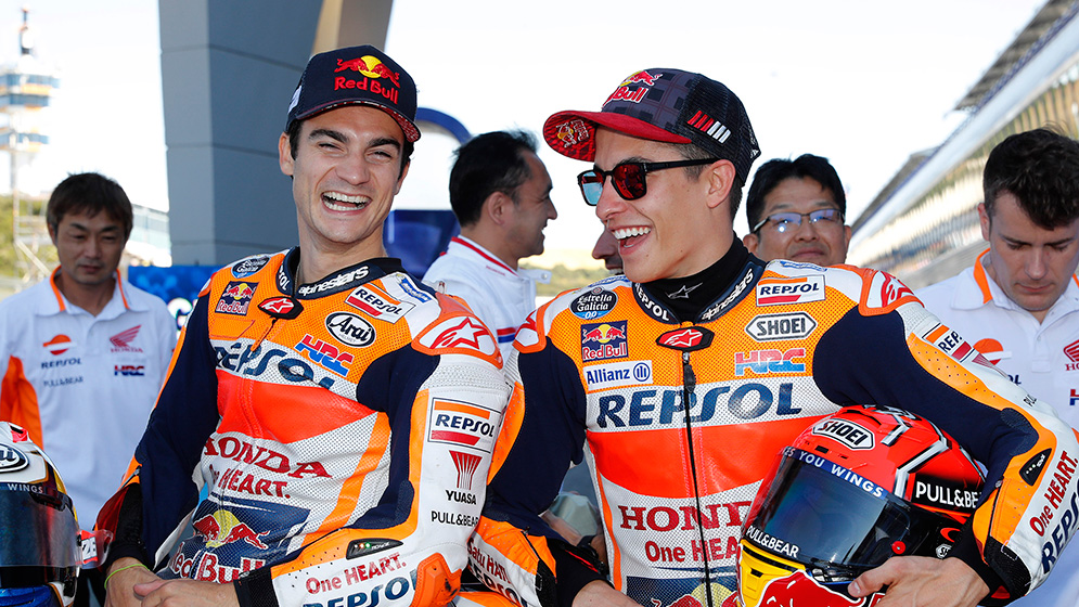 Six interesting facts about Marc Márquez and Dani Pedrosa's racing suits