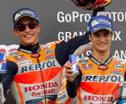 Marc Márquez and Dani Pedrosa compete at favourable Sachsenring circuit