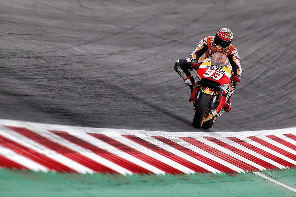 Marc Márquez rodando en Red Bull Ring