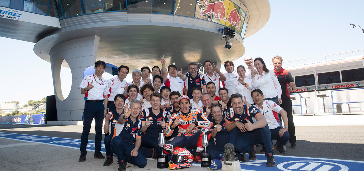 Thirteen victories for the Repsol Honda Team in Jerez!