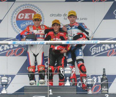 Marc Márquez en el FIM CEV en el podio