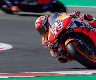 Marc Márquez en entrenamientos libres durante GP de San Marino