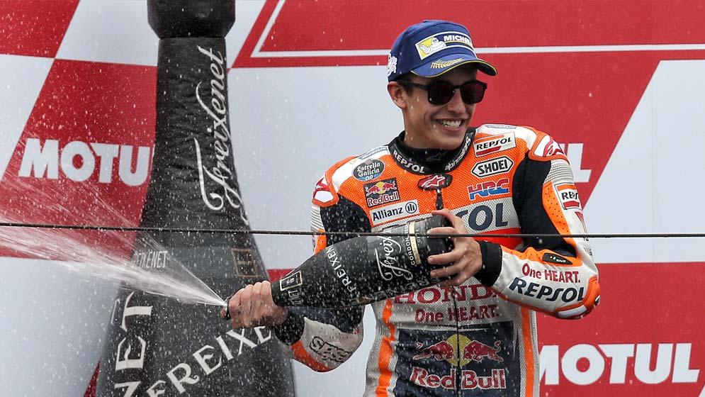 Vibrante segunda posición de Márquez