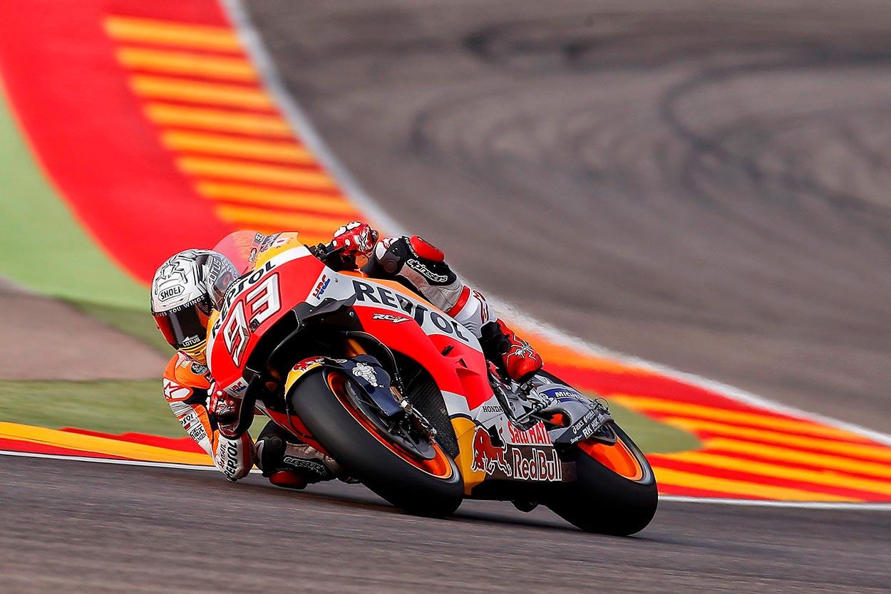 Marc Márquez trazando un sector de curvas enlazadas