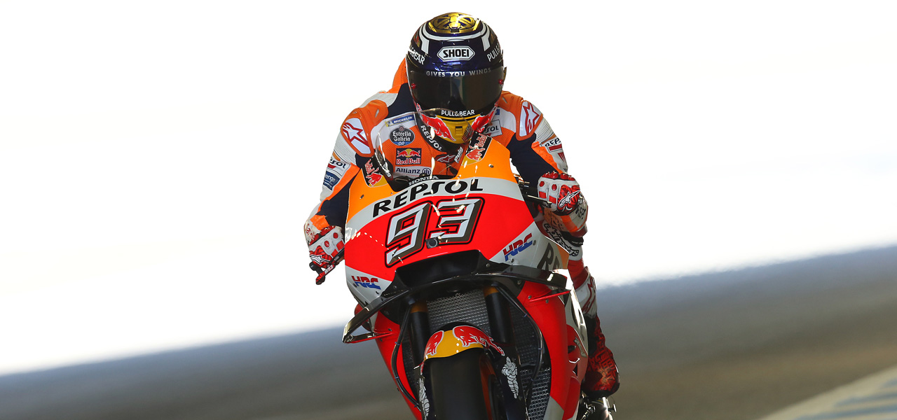Second row for Marc Márquez and fourth row for Dani Pedrosa