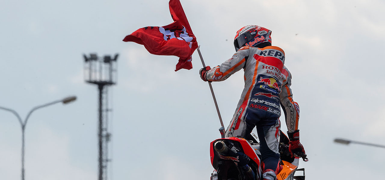 Márquez claims 50th victory in MotoGP