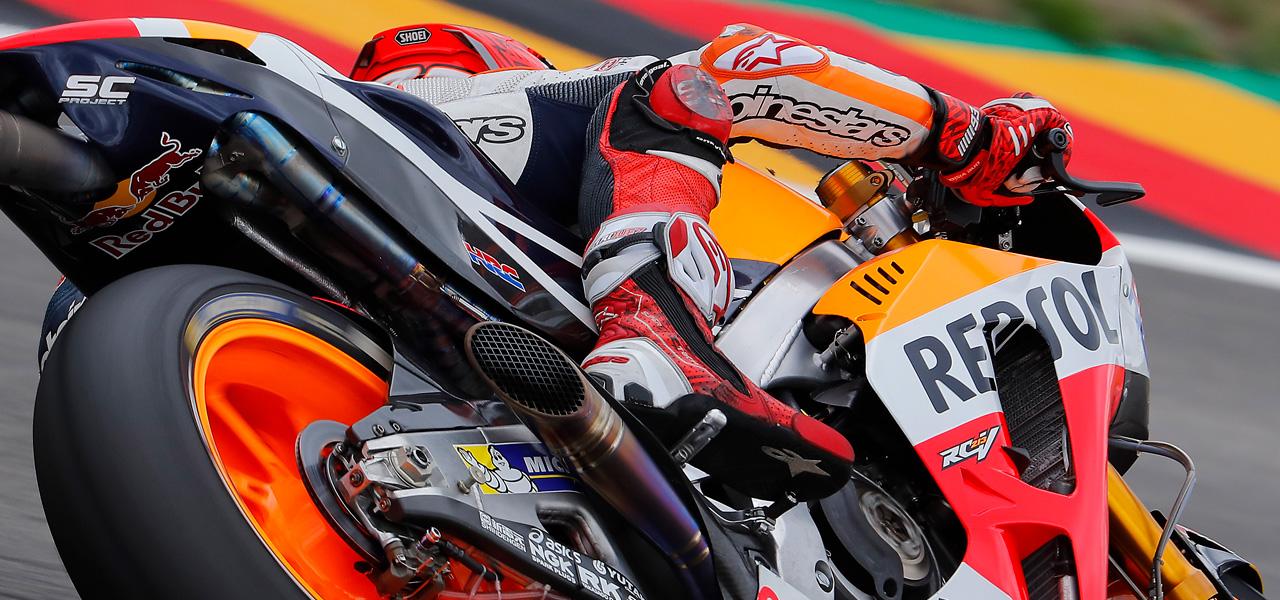 Magnesium and titanium, lightweight materials used in MotoGP