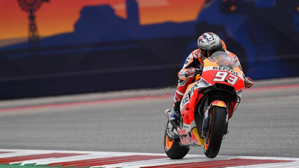Márquez takes sixth consecutive pole in Austin, but will start from fourth after a penalty