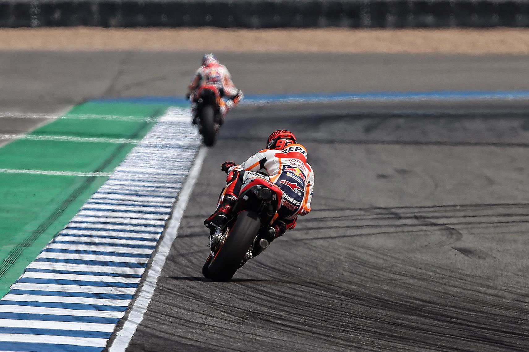 Marc Márquez en un circuito caluroso