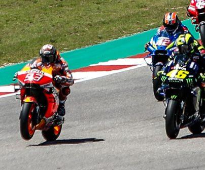 Pilotos de MotoGP en salida