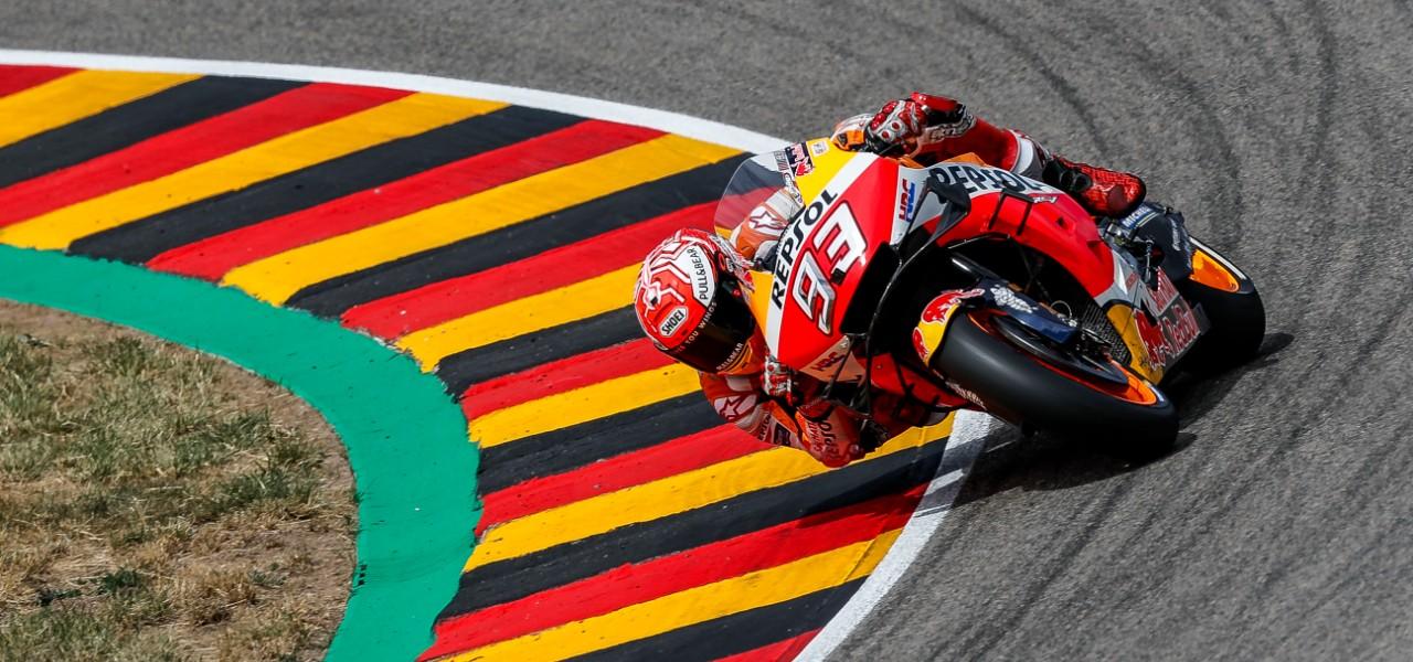 Décima 'pole position' consecutiva de Marc Márquez en Alemania