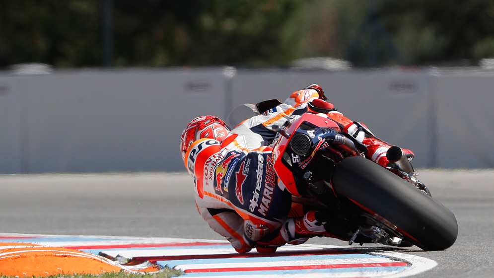 How hot do the components get in a MotoGP bike?
