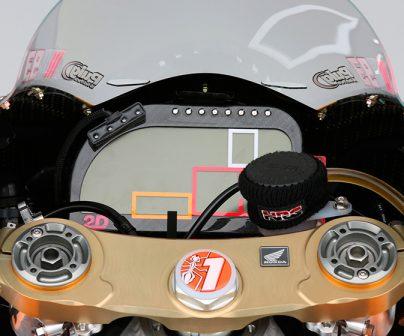 Mandos de la Honda RC213V de Marc Márquez