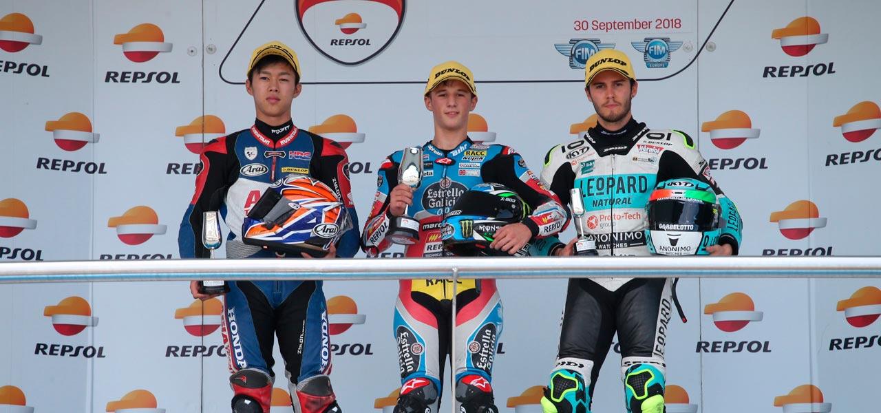 Kunii, García, Pons y Bertelle se reparten las victorias en Jerez