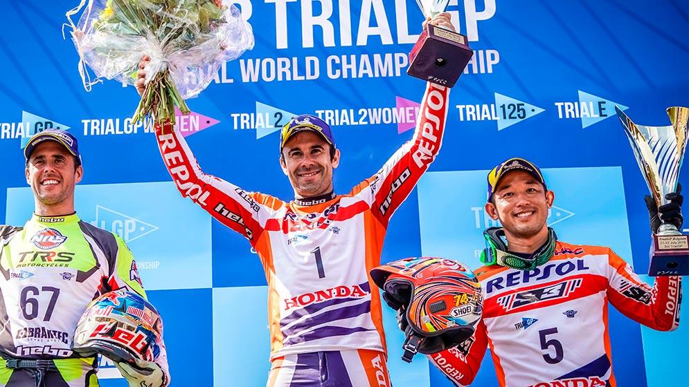 Victory for Toni Bou and a podium for Takahisa Fujinami