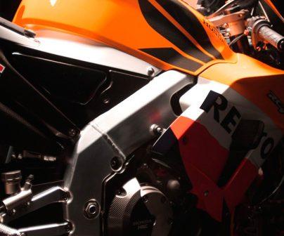 Detalle lateral de una Honda RC211V