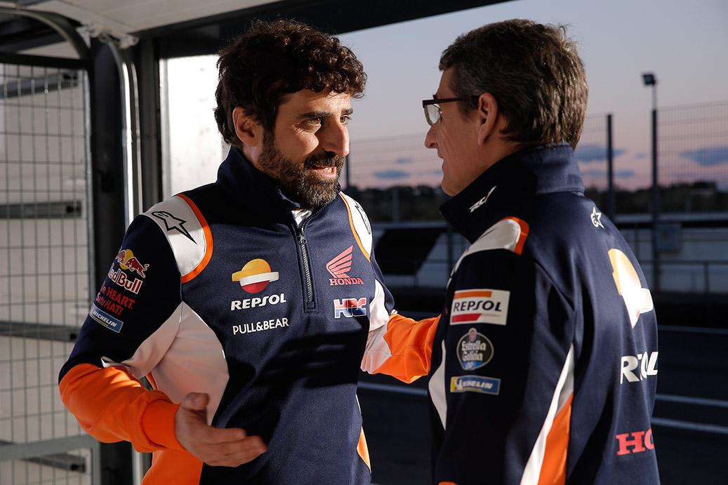 Santi Hernández y Ramón Aurín charlando