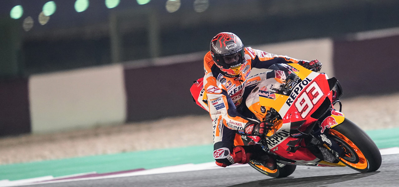 The Repsol Honda team returns to work in Qatar Test