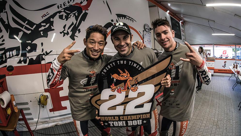 Toni Bou revalida el título de Campeón del Mundo de Trial