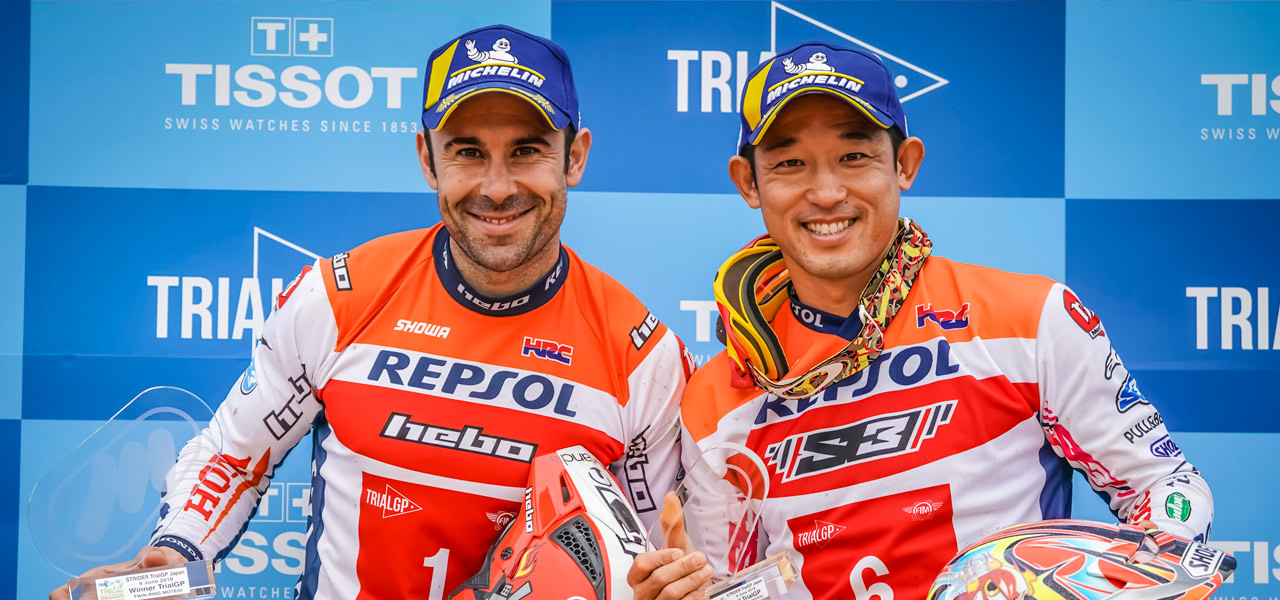 Two double podiums for Bou and Fujinami in Japan