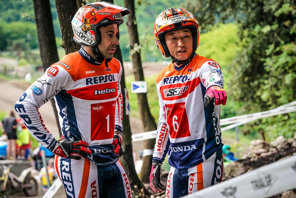 pilotos Repsol Honda de trial