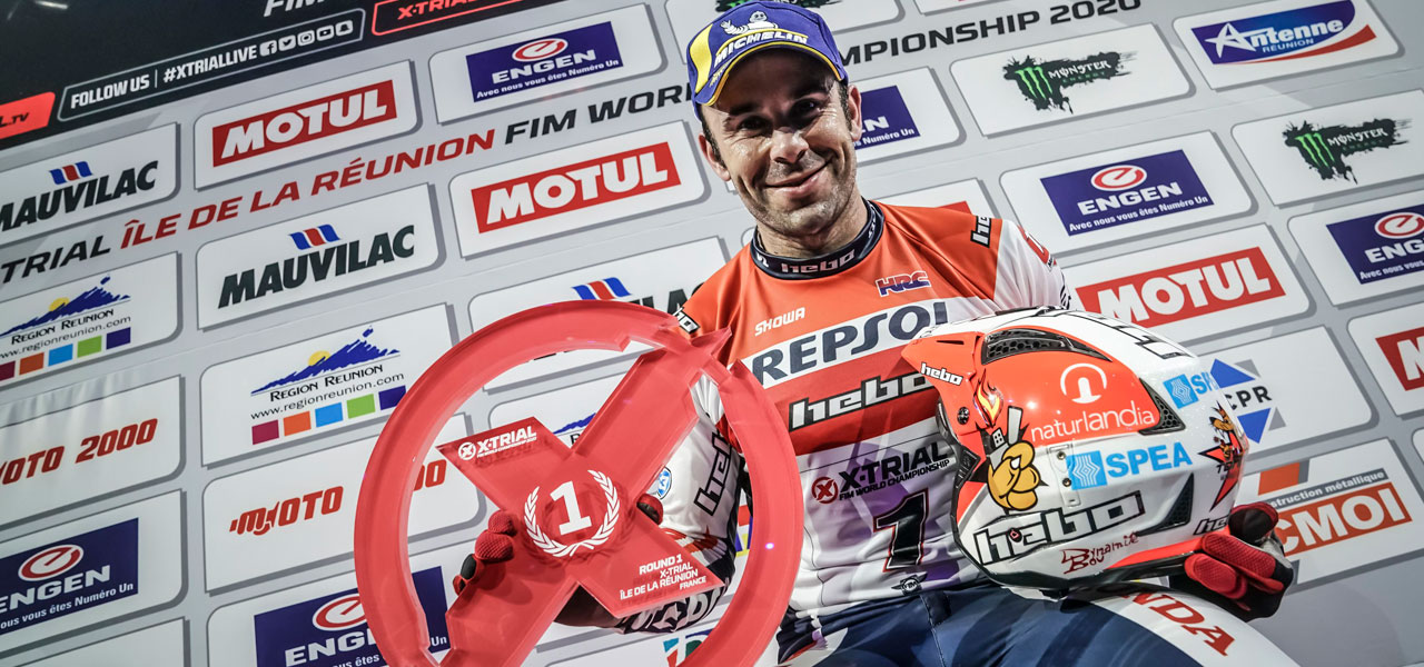 Toni Bou starts his X-Trial title defence with a victory at Reunion