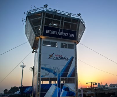 Torre de control desmontable de la Red Bull Air Race