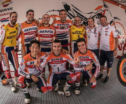 El Equipo Repsol Honda imparable en el Mundial de Trial 2017
