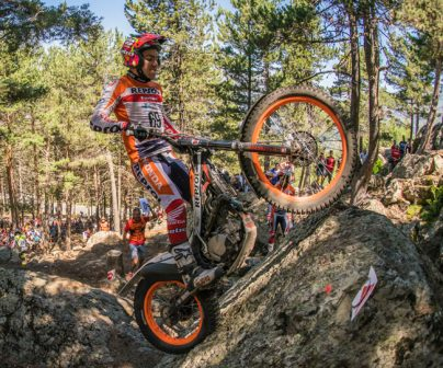 Jaime Busto jumping on bike