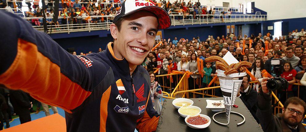 Marc Marquez a big hit in town of Villamartin