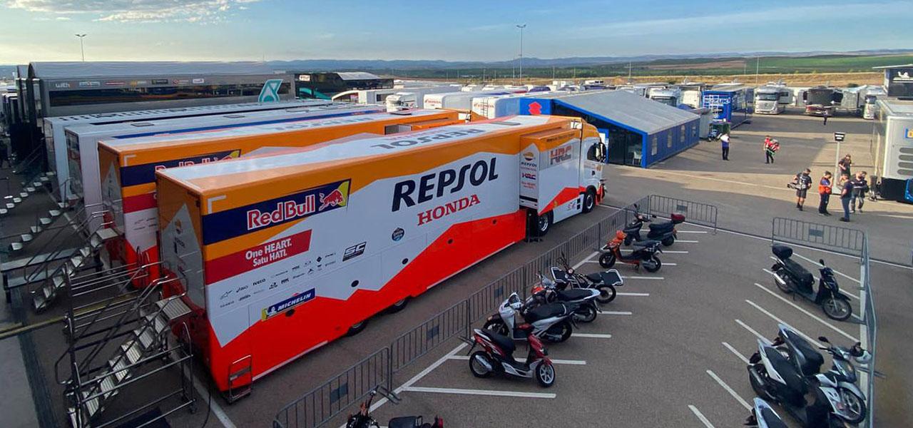 Cómo se organiza un paddock de MotoGP