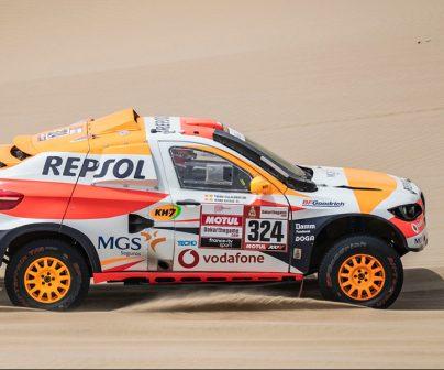 Isidre esteve en coche de rally