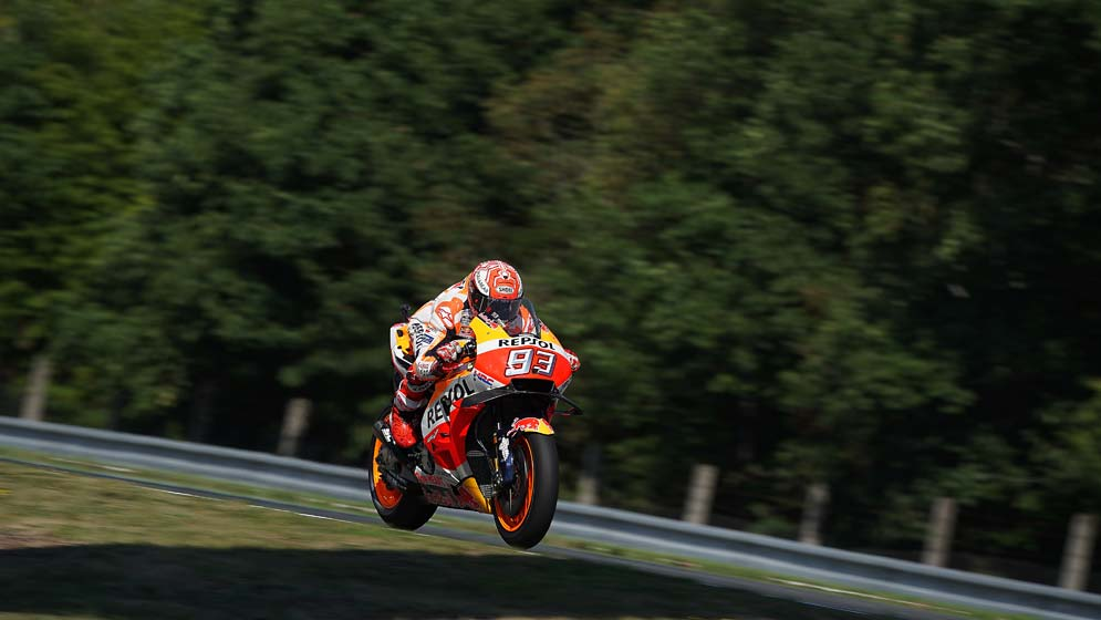 Front row for Marc Márquez at Brno
